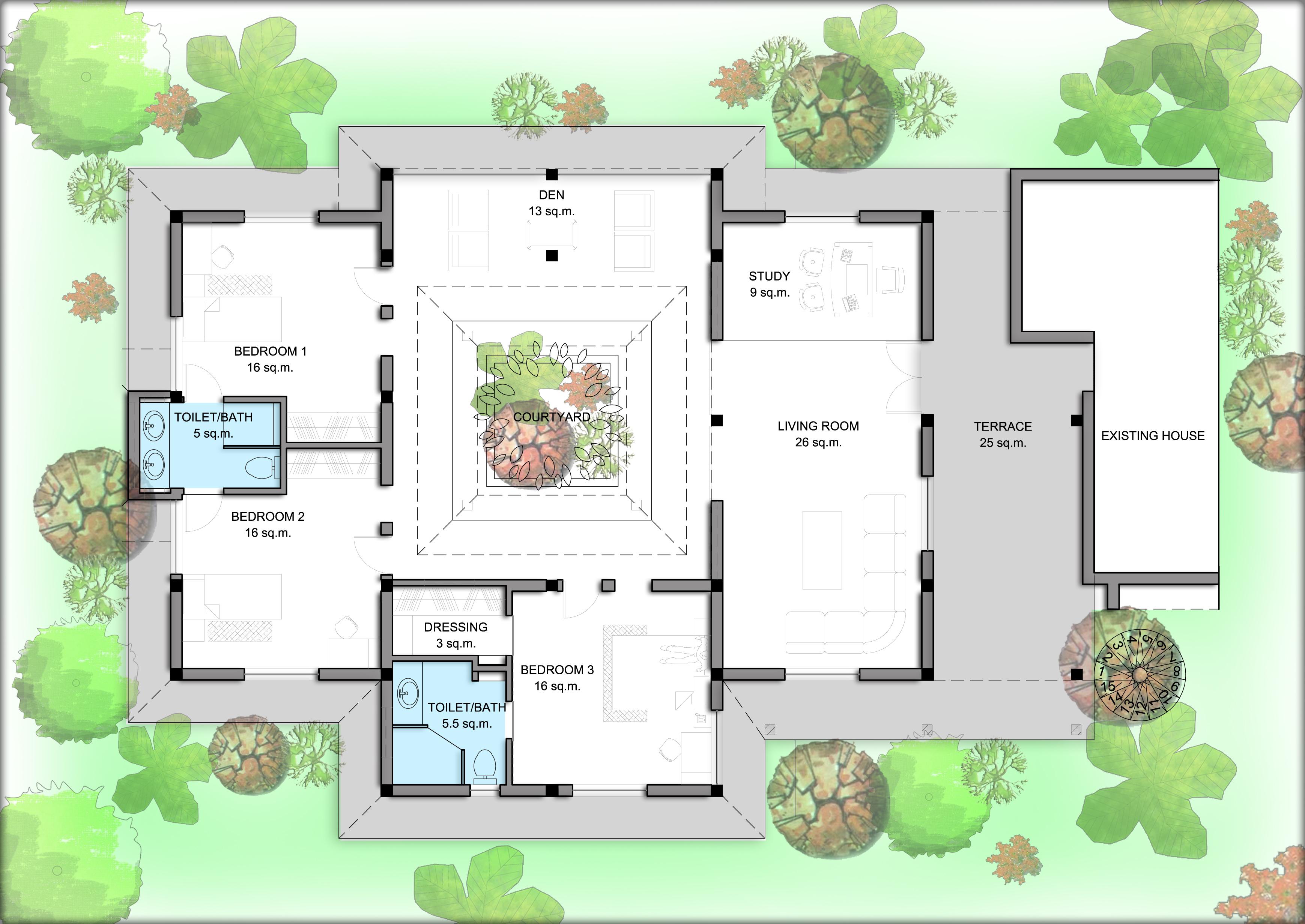 Fraternity house floor plans - House interior