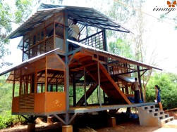School building - steel, stone, wood, wattle and daub